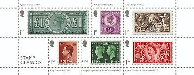 2019 Royal Mail STAMP CLASSICS Miniature Sheet New Issue    Modern GB Stamps