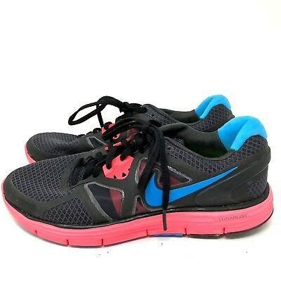 bcc4abc066c4a NIKE LUNARGLIDE 3+ pink blue grey running shoes sneakers womens size ...