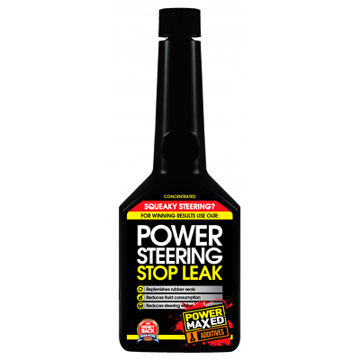 Power Maxed Power Steering Stop Leak Treatment Replenishes Rubber Seals 325ML