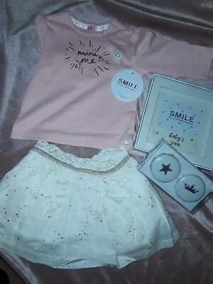 Mothercare Julien macdonald baby outfit and scan frame + tooth + curl  gift set