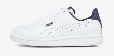 New Puma Men s Leather Sneakers Smash Perf C Athletic Tennis Shoe White PK  Size 117a5510a