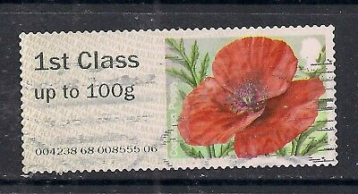 GB 2015 QE2 1st up to 100 gms Post & Go Common Poppy ( D802 )