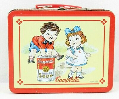 Antique Campbells Tomato Soup 1998 Vintage Collectible Metal Lunch Box Red