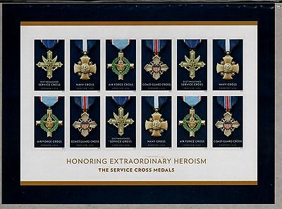 Us Honoring Heroism 2016 The Service Cross Medals 12 Mvf Forever Stamp Sheet Nip