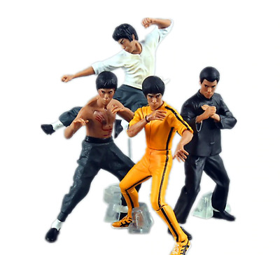 Bruce Lee 4 pcs/set. Kung Fu Action Figure Collection Model Toys Dolls