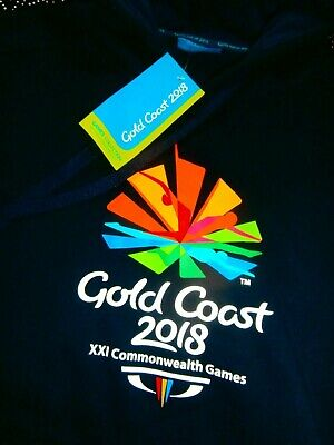 Official GC2018 Gold Coast 2018 Commonwealth Games Hoody Hood Hoodie NAVY Men L