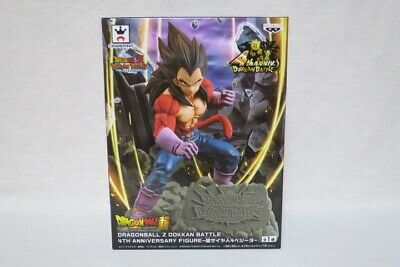 Dragon ball Z Dokkan Battle 4th Anniversary Figure Super Saiyan 4 Vegeta Japan