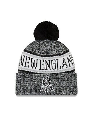 b0de9d952 New England Patriots New Era 2018 NFL Sideline Historic Sport Knit Hat –  Black