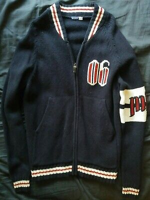 Mooks Zip Up Cardigan Size M Vintage Retro
