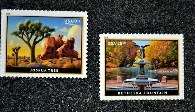 2019USA #5347-5348 $7.35 25.50 Joshua Tree & Bethesda Fountain - Priority  Mint