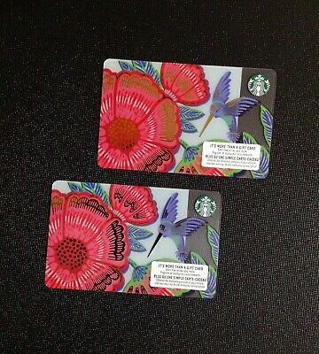 Canada Starbucks 🌺 Spring Gift Card ----- Lot Of  2 Pcs. ----- New