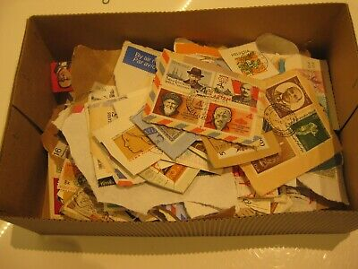 Foreign stamps. Unsorted. on paper. 350+