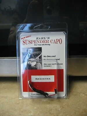 Earl's Suspender 5th String Banjo Capo/NIP!