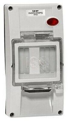 Iso RCD BACK BOX COVER 2-Gangs, Industrial & Commercial Use, Grey