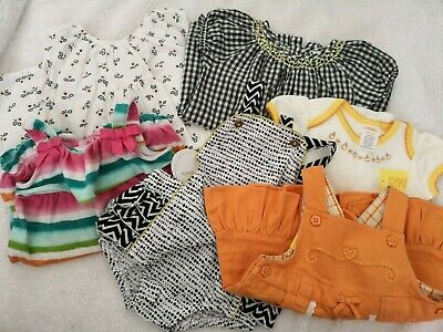 NEW Baby Girls Lot GYMBOREE Outfits FOX & FINCH Size 00 (3-6m) SEED Dresses NWT