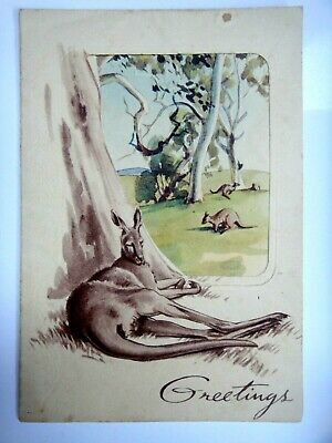 1949 Rugby League Greetings Card.  Eric Simmonds 1948 Roos Manager