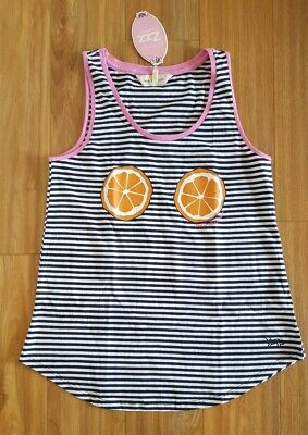 PETER ALEXANDER PJS Womens Orange Tank Top Size Small BNWT Sleep PJ Cotton