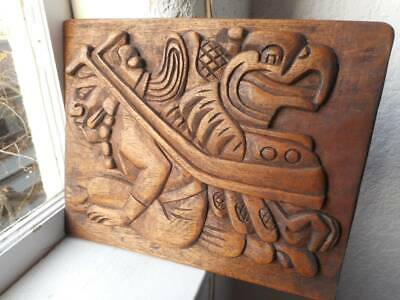 Aztec Mythical Wood Carving