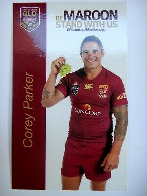 2015 Corey Parker Iga Qld State Of Origin Stand With Us Player Card