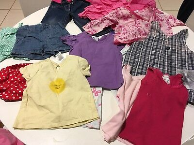 Bulk Lot Of 13 Size 00 Girls Assorted Clothes