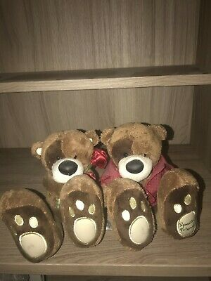 Couple Big FOOT14cm, rare! Collection me to you Tatty Teddy Carte blanche