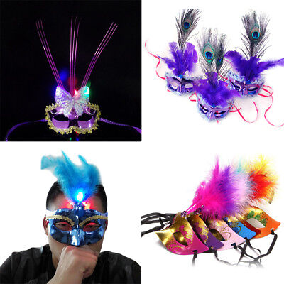 Venetian Masquerade Mask - Fancy Dress Party High Quality UK Seller Feather