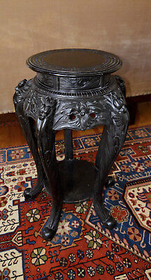 Beautiful Antique Stand Solid Wood Black Australian History 1920s Very Rare