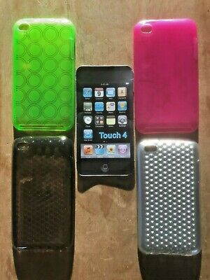 TPU RUBBER GEL CASE / COVER / SKIN- APPLE iPOD TOUCH 4th GENERATION - 4 COLOURS