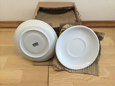 12 X Athena Hotelware Saucers 145Mm White Porcelain Chip Resistant