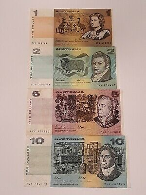 Old Australian Paper Bank Notes. Includes an Combined postage!!!