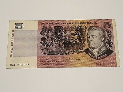 Old Australian Paper Bank Note. Coombs.