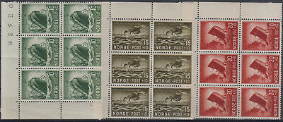 Norway 1944 Charity Stamp Very fine set of MNH stamps in blocks of 6