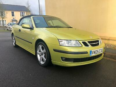 2005 Saab 9-3 2.0T Auto Vector 175Bhp Convertible High Spec Full Grey Leather!!