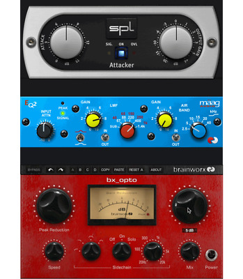 PLUGIN ALLIANCE-Brainworx bx_opto, SPL Attacker, Maag EQ2 -BUNDLE! 357 USD Value