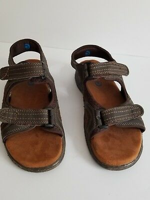 810e4528b186 Mens Nunn Bush Sport Sandles. Brown Hook And Loop Fasteners Size 9 Memory  Foam