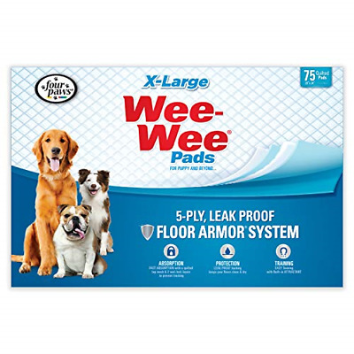 Wee Wee Dog Pee Pads Extra Large   75 Count   Puppy Training Pee Pads for Dogs  
