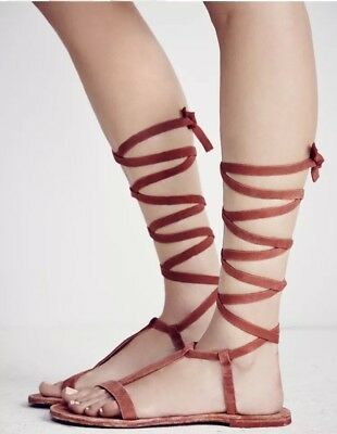 8ec9420e4480 FREE PEOPLE GLADIATOR Dahlia Lace Up Sandals Msrp  68 Sunkissed Size ...