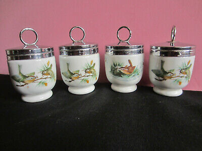 4 cuit oeuf eggs coddler porcelaine anglaise royal worcester