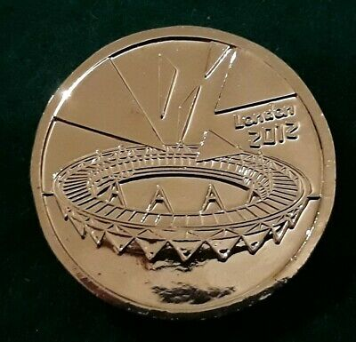 2012 London Olympics. COMPLETER MEDALLION. To Complete Olympic 50p Set. VGC
