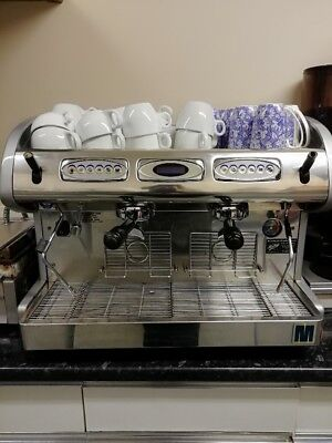 Macco espresso coffee machine, used, silver - full working order - commercial