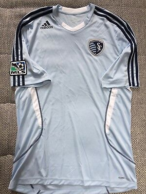 adidas Sporting Kansas City MLS Pre Match Shirt 2011, Hellblau, Größe M, Neu