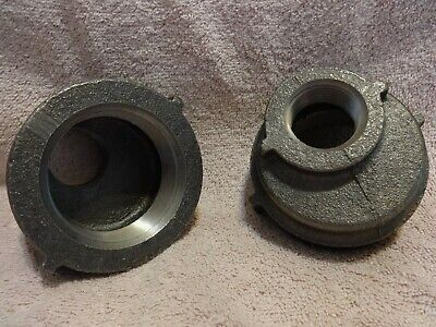 """Ward 68115K85 2"""" X 1"""" Offset Straight Reducer Npt  Malleable Iron Pipe Lot Of 2"""