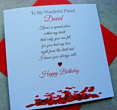 Handmade Personalised Birthday Day Card Husband Boyfriend Fiance Wife Girlfriend