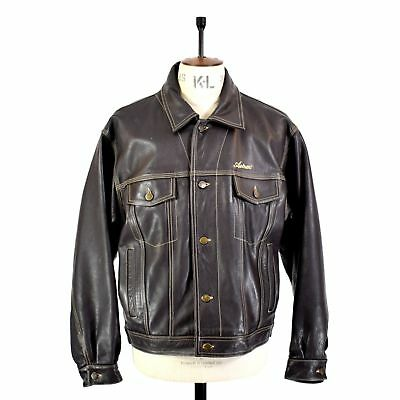 Very Rare - Avirex - Levi Style Type Iii - Thick Leather Western Jacket - L/xl