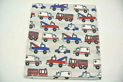 Baby Blanket Fire Trucks Police Cars Ambulances Tow Trucks Can Be Personalized