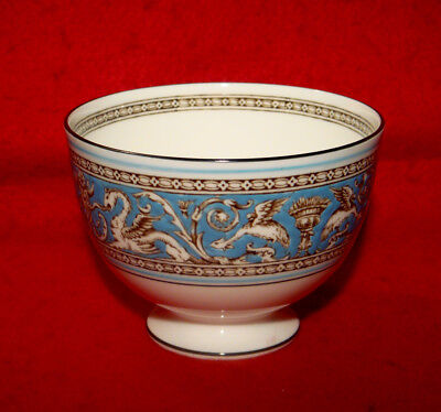Wedgwood *florentine* Turquoise Open Sugar Bowl Fruit Center Made In England