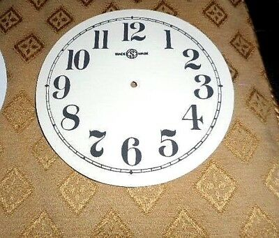 "Round Seikosha Paper Clock Dial - 5"" M/T - Arabic-GLOSS WHITE-Face/Parts /Spares"