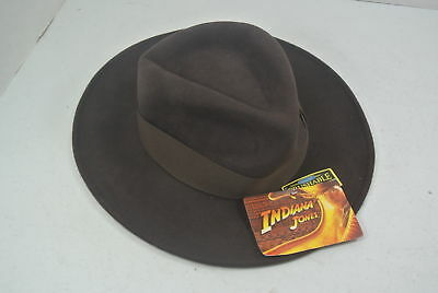 NEW Dorfman Pacific INDIANA JONES Crushable Wool Felt Fedora Hat S 6 3 4 - 89e9e9ffbf3e