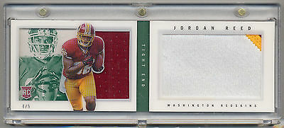 2013 Panini Playbook Rookie Jerseys Prime Green JORDAN REED RC Patch Booklet 4/5