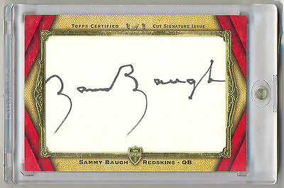2012 Topps Supreme Hall of Fame SAMMY BAUGH Autograph Auto # 1/1 REDSKINS HOF QB